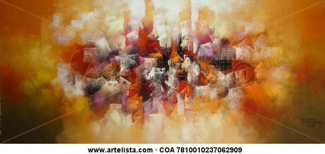 abstracto ( sin titulo ) Canvas Oil Landscaping