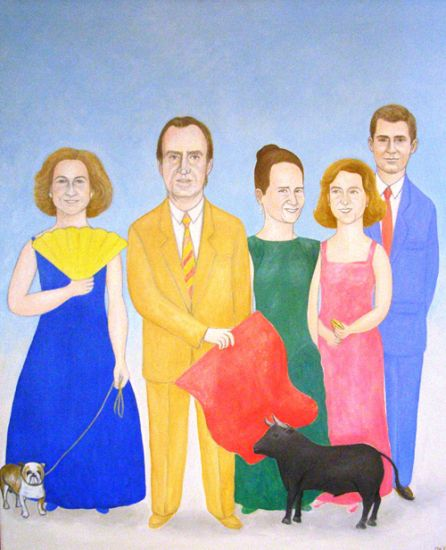 La Familia Real Oil Canvas Portrait