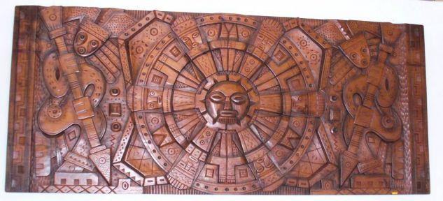 Calendario precolombino Madera Abstracta