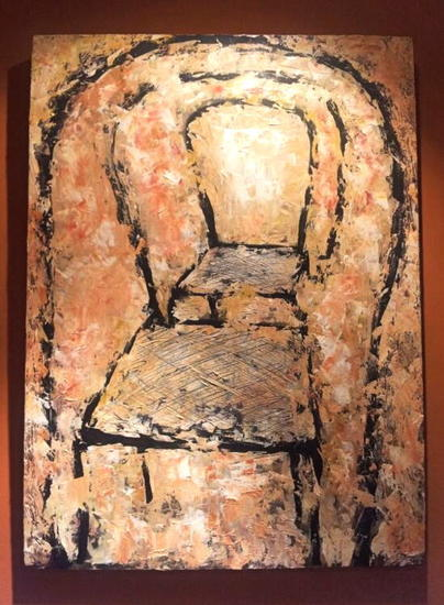 la silla Panel Oil Figure Painting