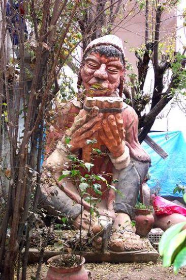 Cusco- Escultura de Arcilla- en el Barrio de San Blas