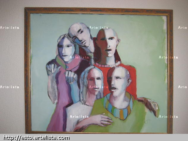 Ciudadanos Canvas Oil Figure Painting
