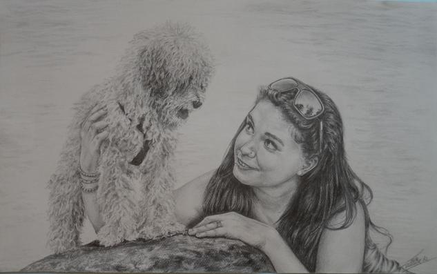 Marta y Bisby Portrait Graphite Paper