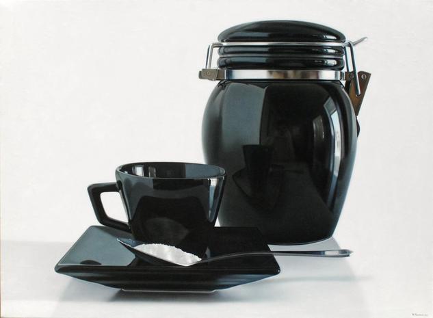 coffee time Lienzo Óleo Bodegones
