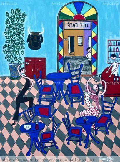 Olé Café Acrílico Lienzo Bodegones