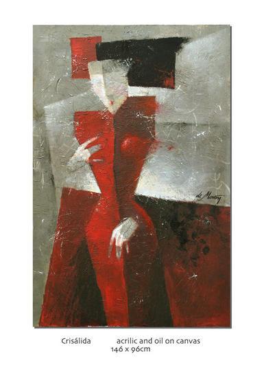 Mujer de San Petersburgo Lienzo Acrílico Figura