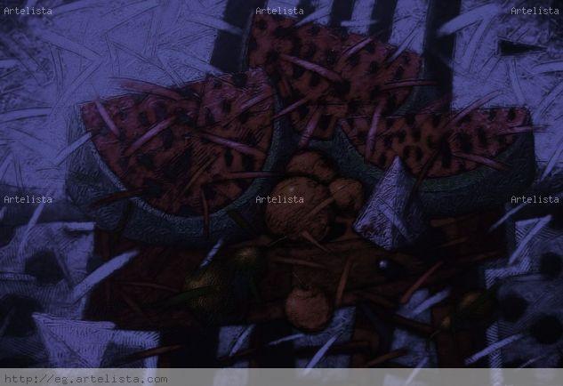 From The Spirit's Garden: Bodegon 5 Tela Media Mixta Bodegones