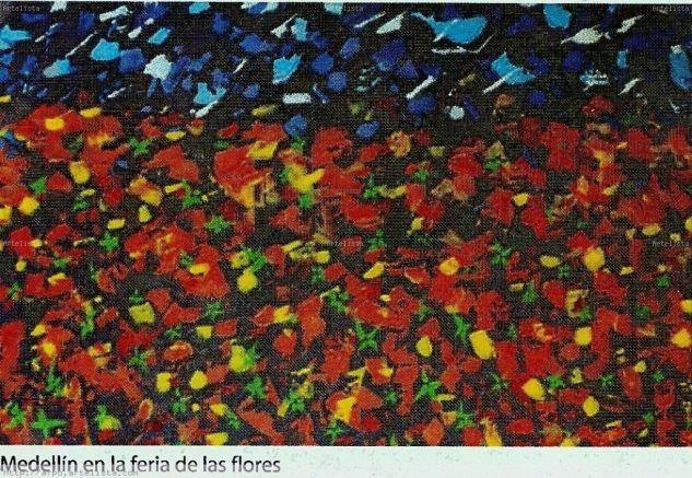 Medellin en la feria de las flores Acrílico Lienzo Paisaje
