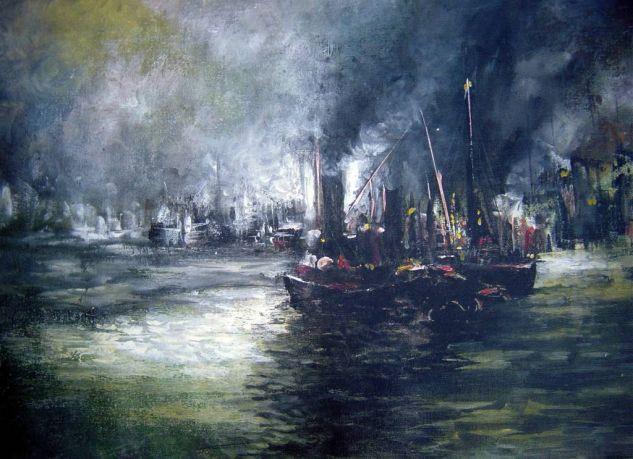 Nostalgias del Puerto 4 Acrílico Lienzo Marina