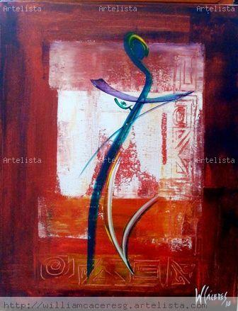 THE RED DANCER (SOLD) Figure Painting Canvas Acrylic