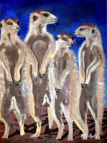 Erdmännchen Acrylic Canvas Animals