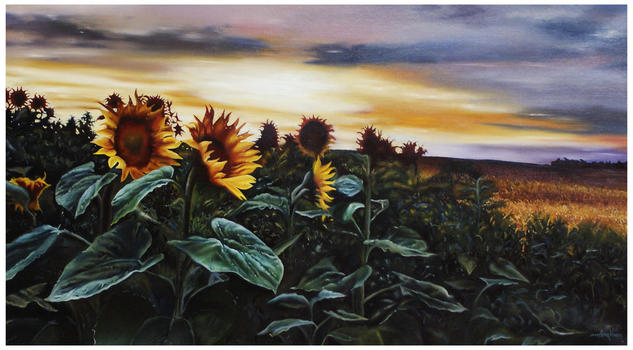 ATARDECER Canvas Oil Landscaping
