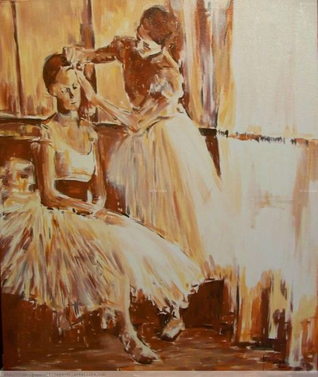 preparandose Canvas Acrylic Figure Painting