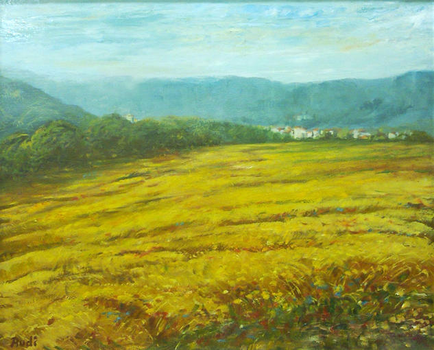 CAMPOS DE TRIGO Canvas Oil Landscaping