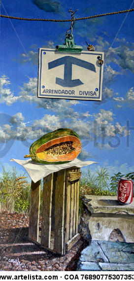 Se alquila- For rent Still Life Paintings Acrylic Panel