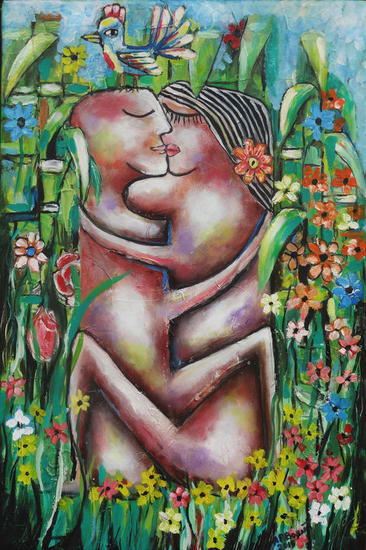 Amor natural Lienzo Óleo Floral