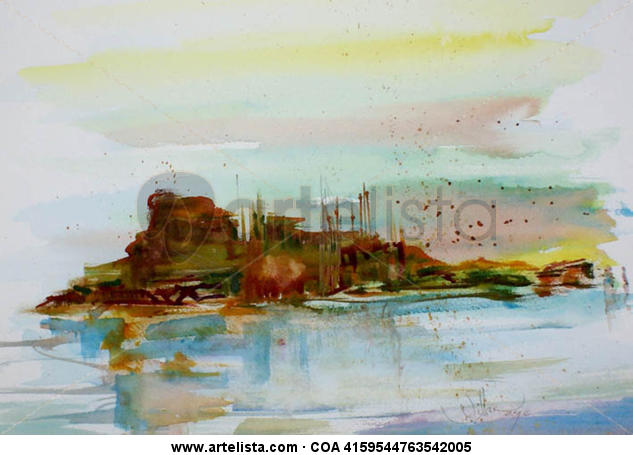 TABARCA Paper Watercolour Landscaping