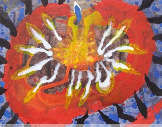 Mascaipacha Acrílico Lienzo Floral