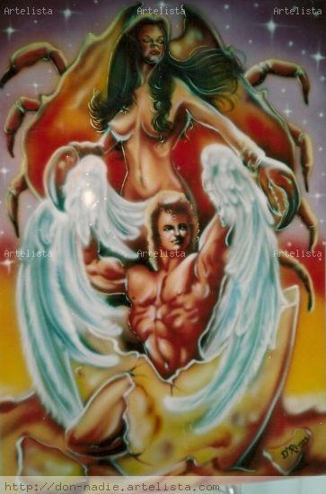 Cancer & Virgo Acrílico Otros Figura