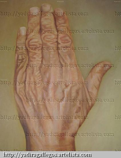 la mano de mi abuelita Oil Canvas Portrait