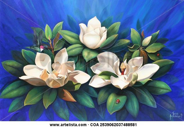 OFRENDA FLORAL Canvas Oil Floral Painting