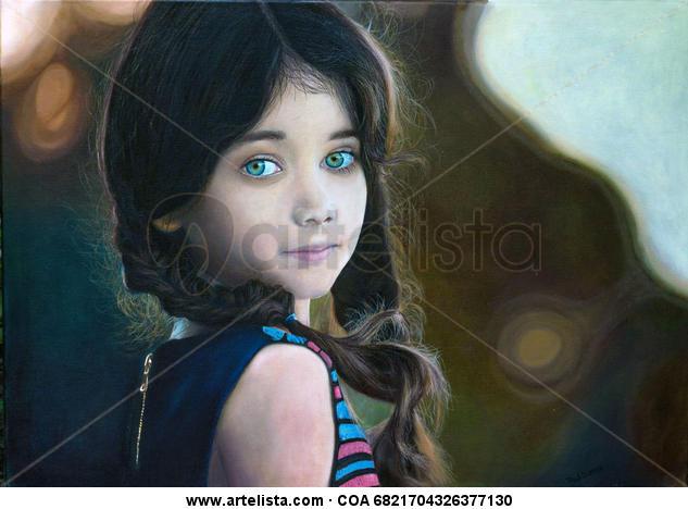 Ella (She) Lienzo Óleo Retrato