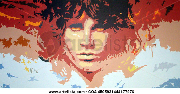 JIM MORRISON y sus tentationes Portrait Acrylic Canvas