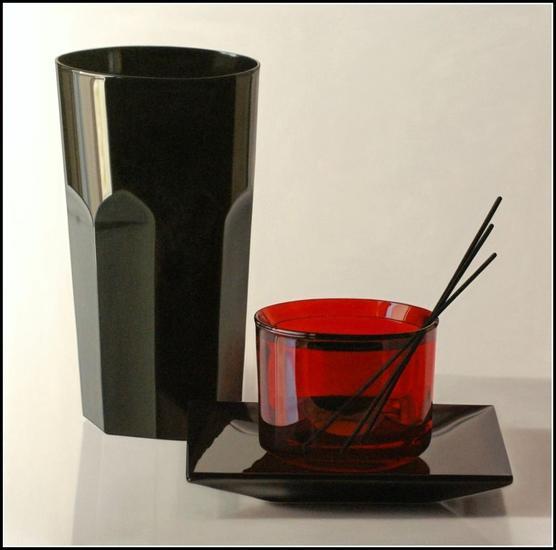 Elegance in black and red Óleo Lienzo Bodegones