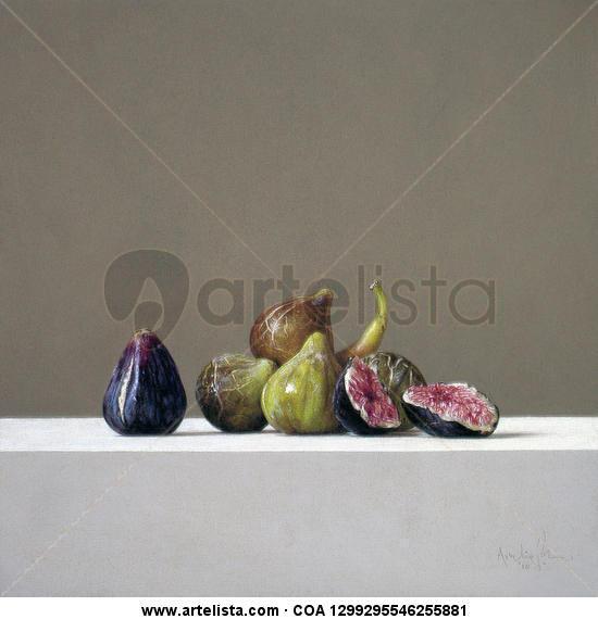 Higos Panel Pastel Still Life Paintings