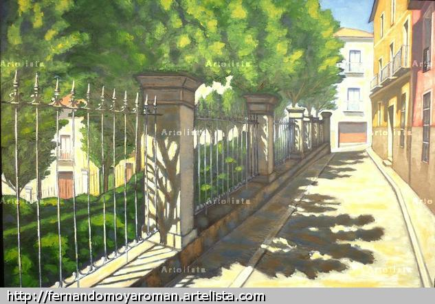 Jardinillo del Salvador Canvas Oil Landscaping
