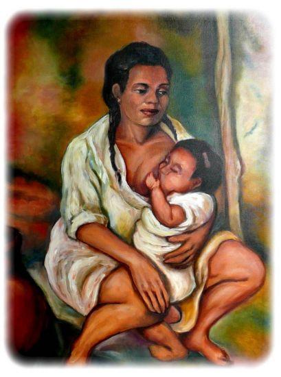 Madre amamantando