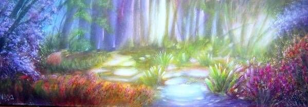 Bosque magico Acrílico Lienzo