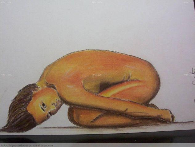 Mujer desnuda Pastel Papel Desnudos