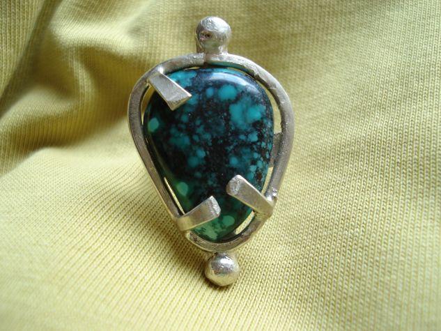 anillo turquesa 4 Metales preciosos Abstracta