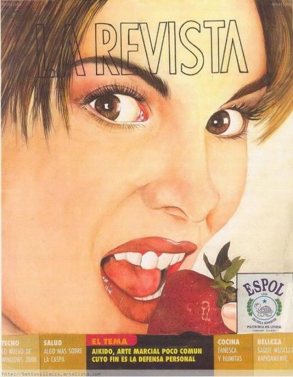 la revista Acuarela Lienzo Retrato