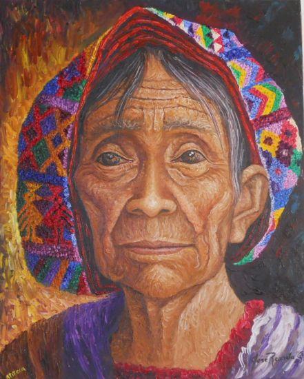 ATITECA (Santiago Atitlàn, Guatemala) Óleo Lienzo Retrato