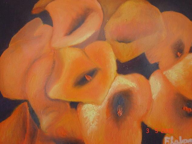 Calas IV Floral Óleo Lienzo