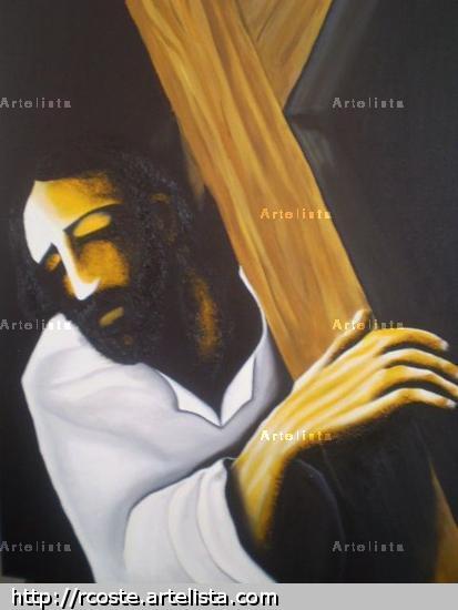 pesada cruz Óleo Lienzo Retrato