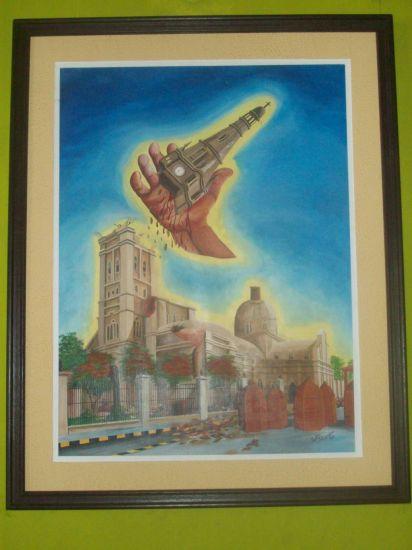 La mano de dios colecc:colores de mi region de walter ramos Óleo Lienzo Otros