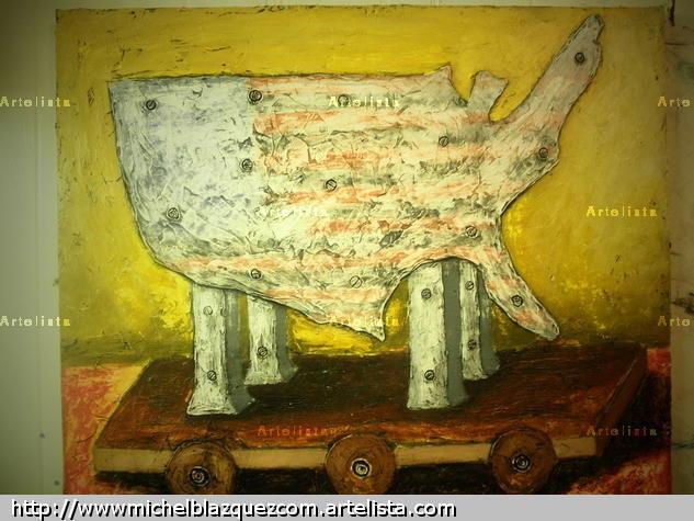 El caballo de Troya 2011 Acrílico Lienzo Otros