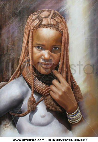niña de raza negra