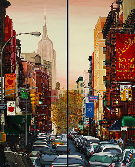 New York #11 Otros Paisaje Tabla