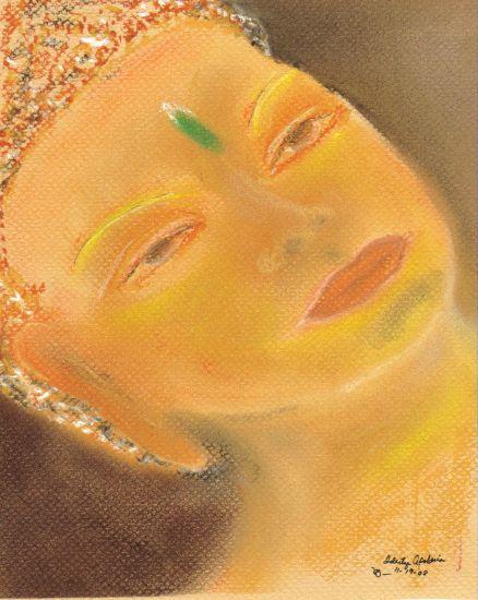 Reflejo de mi SER Pastel Paper Figure Painting