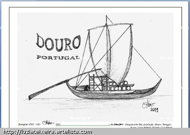DOURO - PORTUGAL - Obra nº 1 Card Ink Landscaping