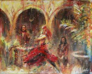 de flamenco en patio andaluz