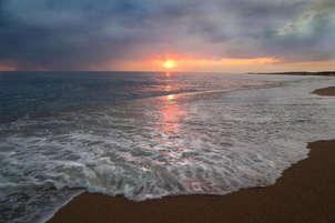 puesta de sol en la playa | sunset at the beach