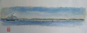 crucero en la bahía-santander