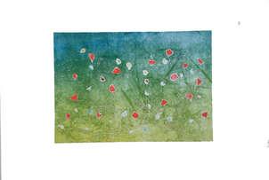 paisaje con flores