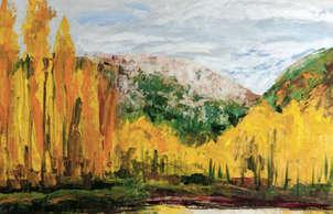 árboles amarillos