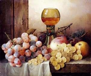 bodegon con uvas